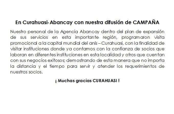 BTL Agencia Abancay-Curahuasi 12.04.18 COOPEESCOLAR 2018