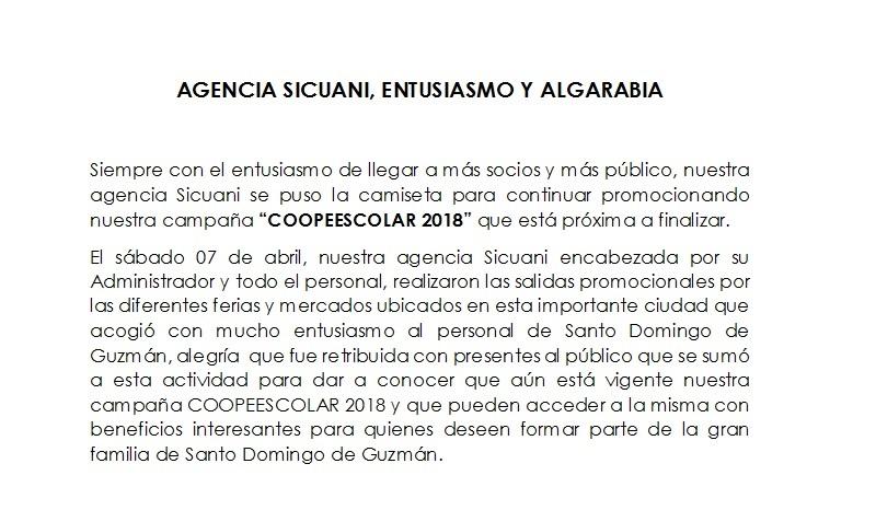 BTL Agencia Sicuani 07.04.17 COOPEESCOLAR 2018