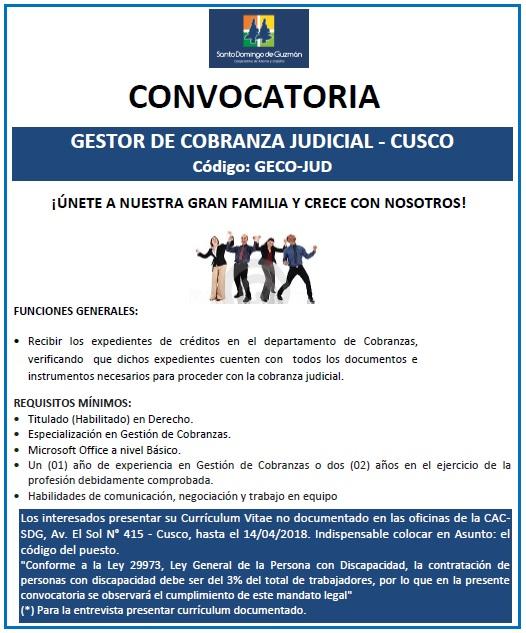 GESTOR DE COBRANZA JUDICIAL