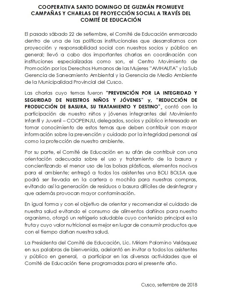 NOTA Charlas CED 22.09.18