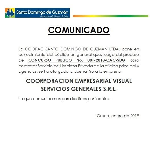 Buena Pro Limpieza 2019