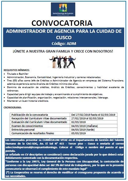 ADMINITRADOR DE AGENCIA