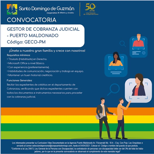 PUBLICACION DE CONVOCATORIA