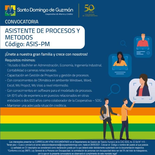 ASISTENTE DE PROCESOS Y METODOS